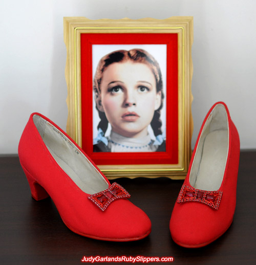 Judy Garland's gorgeous size 5B base shoes
