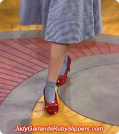 Judy Garland's iconic walk down the Yellow Brick Road