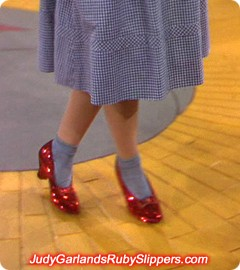 Judy Garland's iconic walk down the Yellow Brick Road