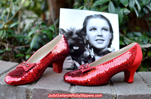 Judy Garland's ruby slipper project is nearing completion