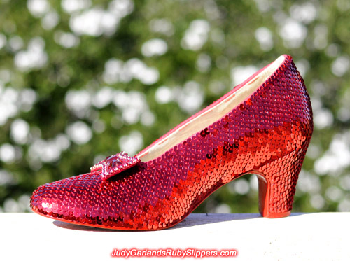 Judy Garland's ruby slippers at the halfway mark