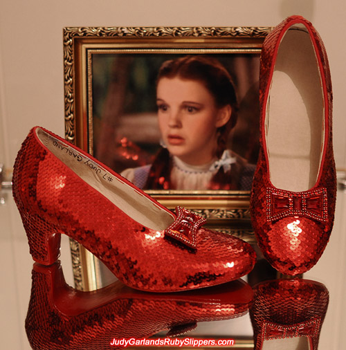 Judy Garland's ruby slippers for The Wizard of Oz fan