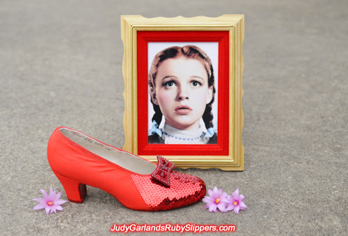 Judy Garland's ruby slippers in the early stage