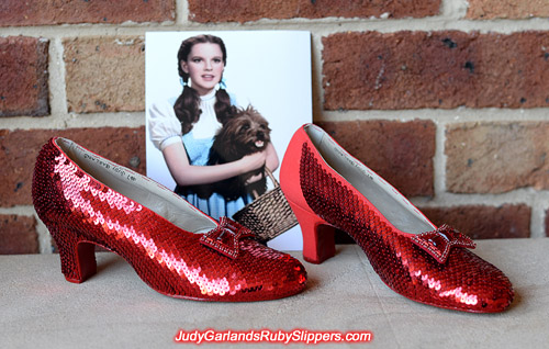 Judy Garland's ruby slippers is beginning to take shape