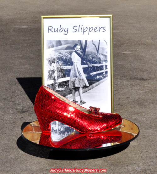 Judy Garland's ruby slippers is being built