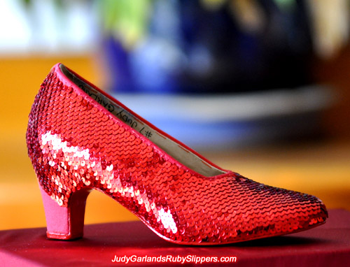 Judy Garland's ruby slippers is looking beautiful