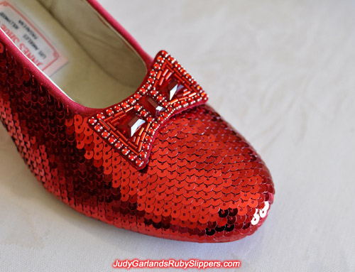 Judy Garland's ruby slippers is looking hot