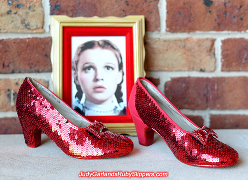 Judy Garland's ruby slippers is nearing completion and looks stunning