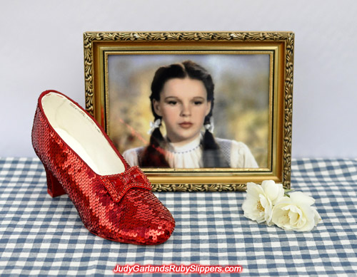 Judy Garland's ruby slippers is progressing well and is halfway there