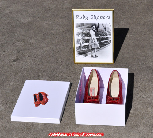 Judy Garland's ruby slippers is ready for shipping