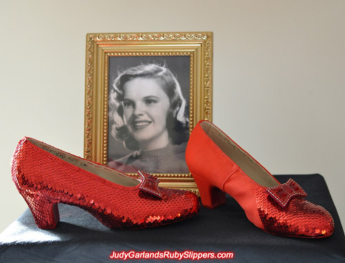 Judy Garland's ruby slippers is slowly beginning to take shape