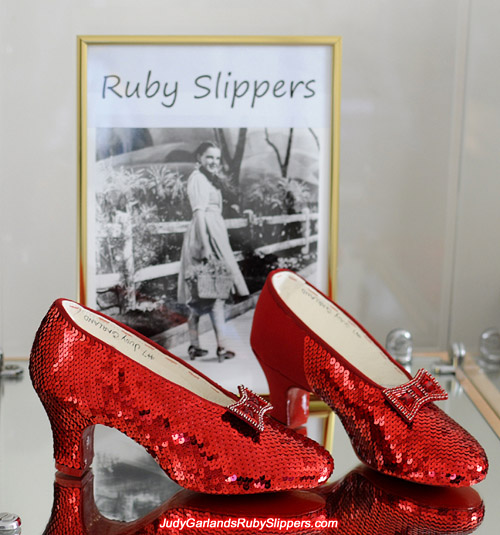 Judy Garland's ruby slippers is slowly getting there