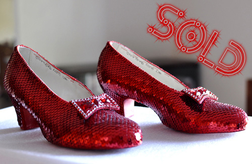 Judy Garland's ruby slippers is sold