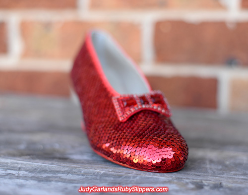 Judy Garland's ruby slippers is starting to shine through with every sequin