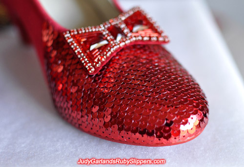 Judy Garland's ruby slippers is starting to take shape