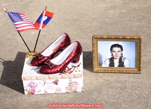 Judy Garland's size 5 burgundy ruby slippers