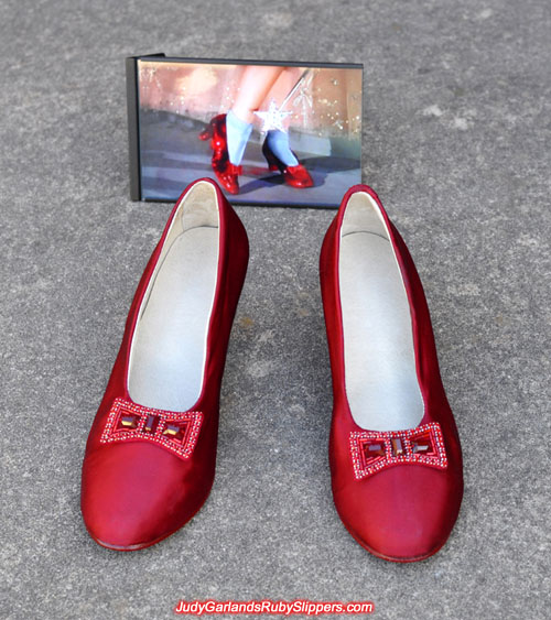 Judy Garland's size 5B base shoes with silk overlay