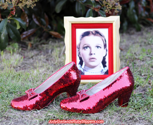Judy Garland's size 5B ruby slippers is finished!
