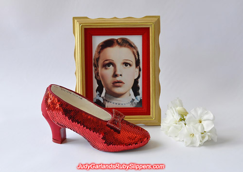 Lots of hard work to get this far with Judy Garland's ruby slippers