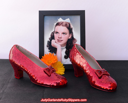 May Judy Garland wear her ruby slippers beautifully always