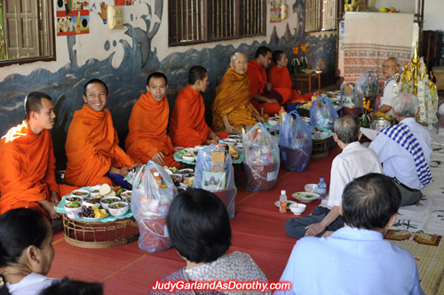 Meal time for Buddhist monks in the nations capital