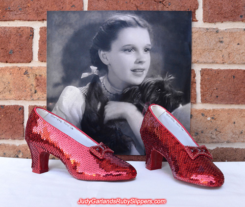 October 2015 project with Judy Garland's ruby slippers is finished