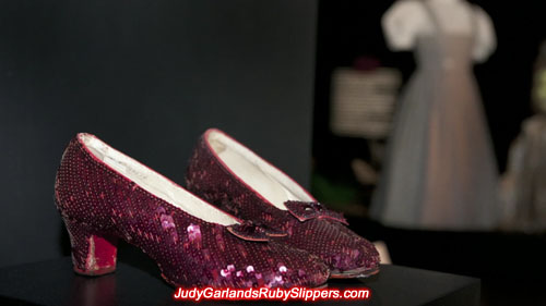 Original ruby slippers worn by Judy Garland as Dorothy