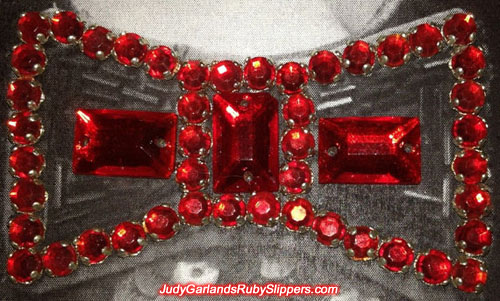 Correct pattern and placement of the jewels on the bow of Judy Garland's ruby slippers