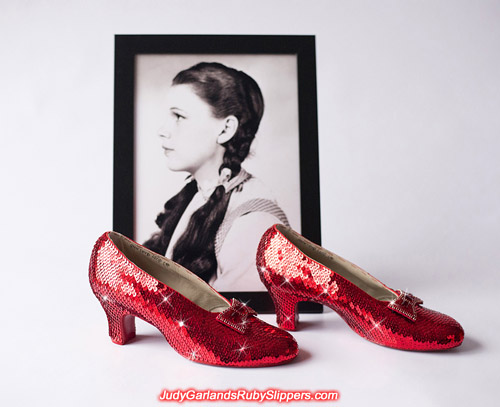 Project is completed with this stunning pair of ruby slippers