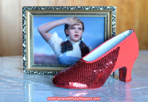 Project with this pair of ruby slippers is nearing completion