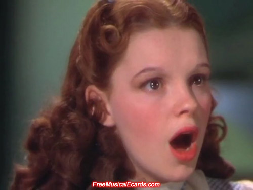Rare close-up shot of Judy Garland as Dorothy