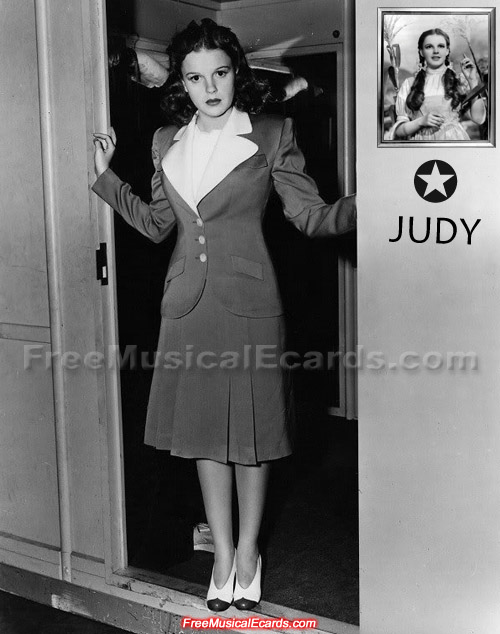 Rare photo of Judy Garland