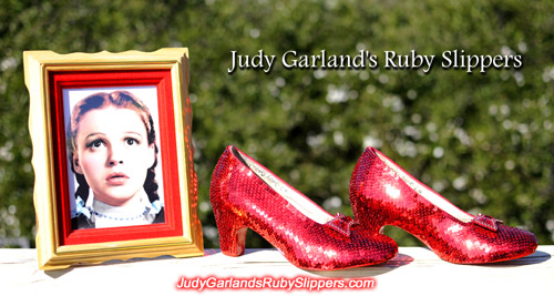 Red hot Judy Garland's ruby slippers