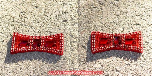 Replica pair of ruby slipper bows