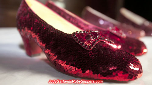 Replica ruby slippers from Western Costume Company