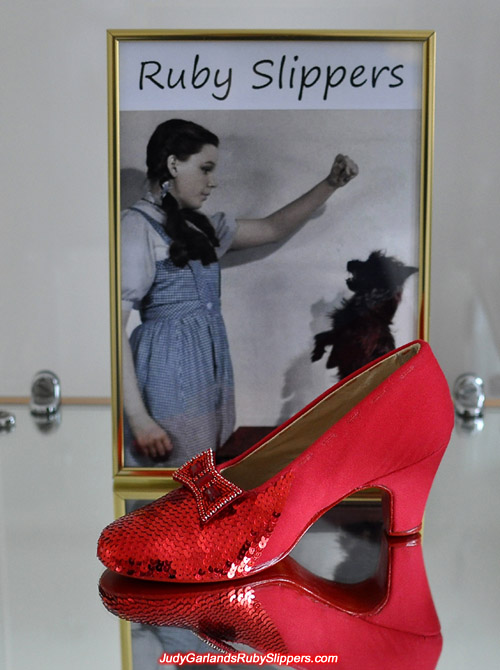 Sequining is now under way on Judy Garland's ruby slippers
