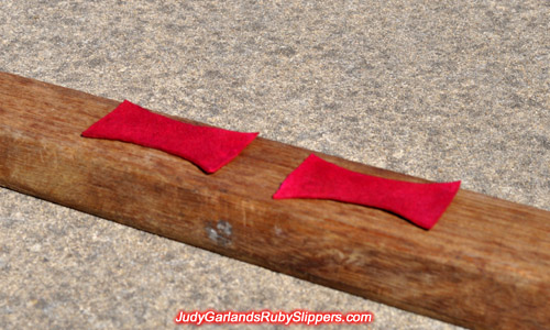 Set of ruby slipper bows dyed red