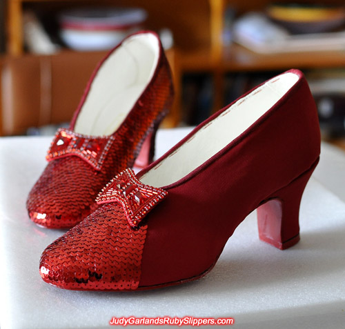 Shaping up to be a beautiful pair of ruby slippers