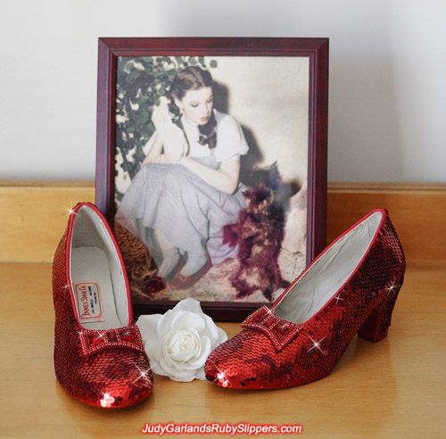 Shiny and sparkly red ruby slippers