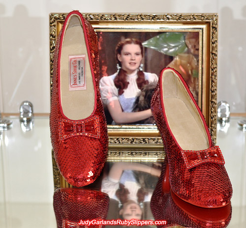 Spectacular hand-sewn ruby slippers