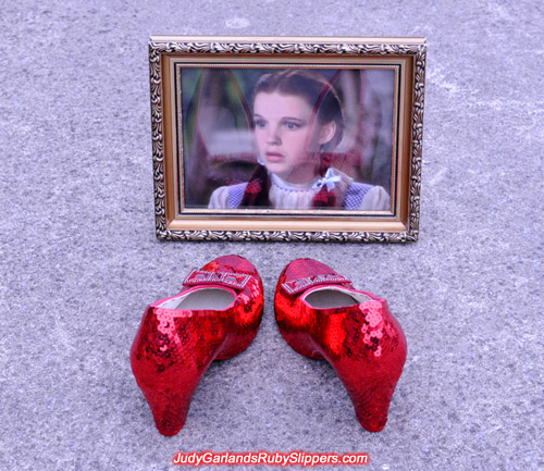 Stunning replica of Judy Garland's ruby slippers
