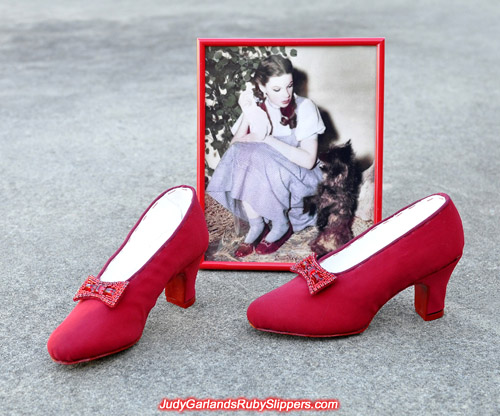 Teen size 5B shoes custom-made to fit Judy Garland as Dorothy