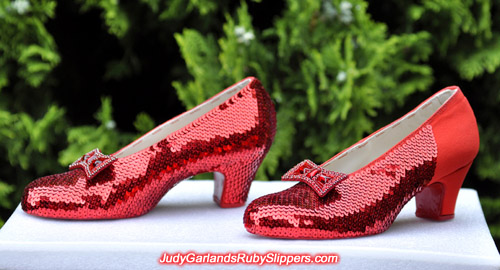 The attention to detail is just phenomenal with Judy Garland's ruby slippers