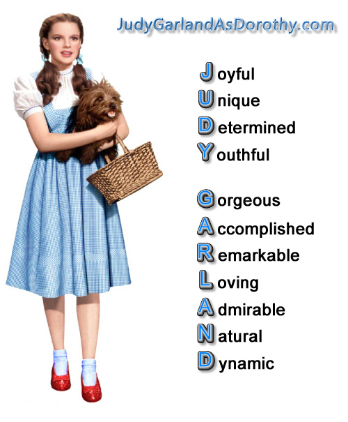 The attributes of Judy Garland