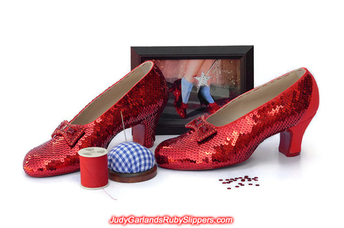The bulk of the work has been done with Judy Garland's ruby slippers