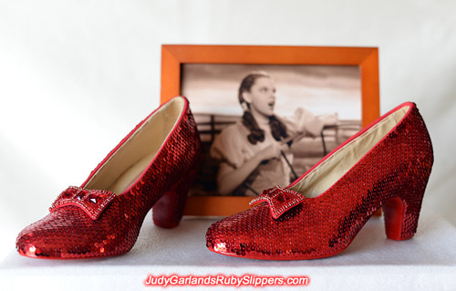 The end result of our project with Judy Garland's ruby slippers