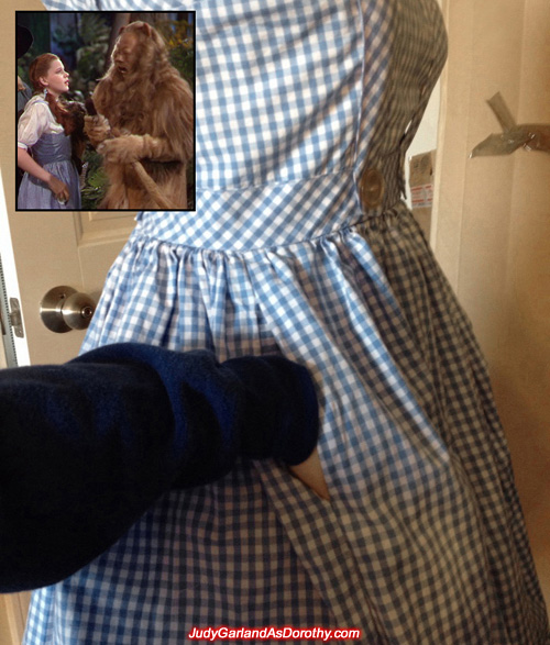 The making of Judy Garland as Dorothy's gingham pinafore dress