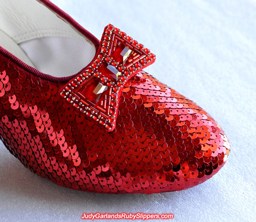 The progress of Judy Garland's ruby slippers