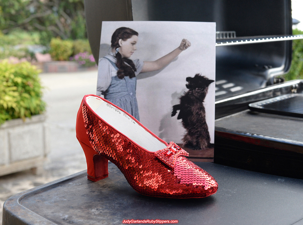 how to make ruby slippers with sequins
