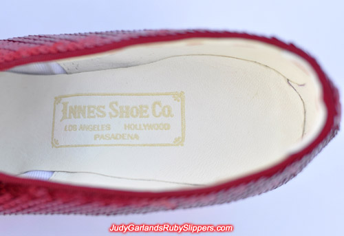 The right shoe features a gold stamped Innes Shoe Company label